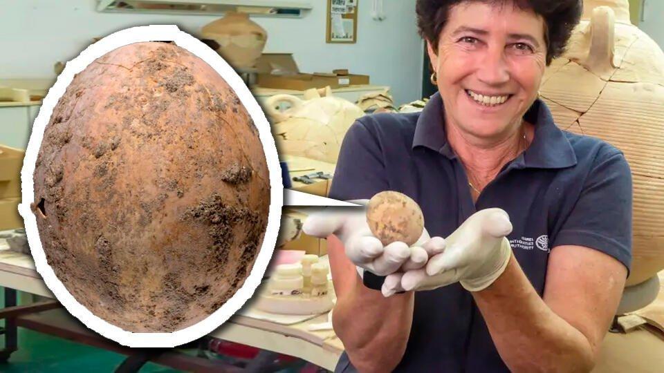 В Израиле нашли тысячелетнее куриное яйцо и древних кукол | В мире | РЕН ТВ