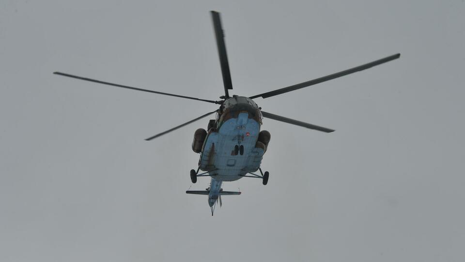 К тушению степных пожаров под Ростовом привлекли вертолеты Росгвардии