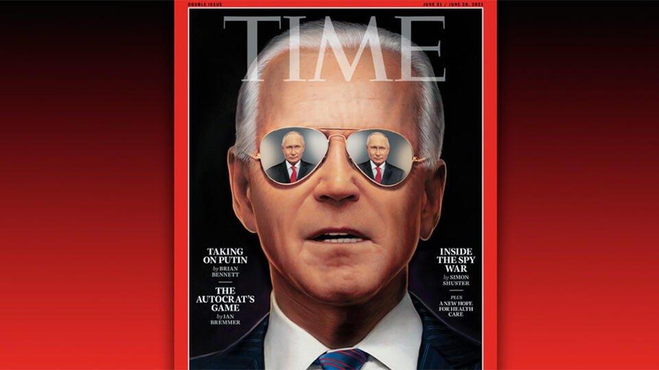 """""""Он спит"""": в Сети объяснили появление Байдена на обложке Time в очках"""