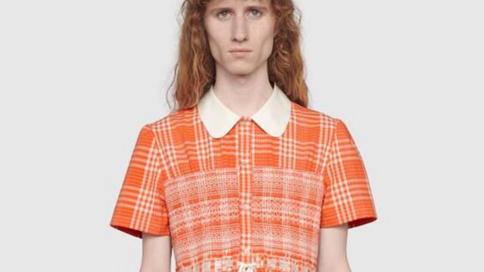 Модный дом Gucci разработал платье для мужчин