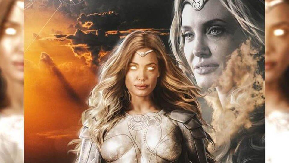 """Анджелину Джоли показали в образе супергероини из """"Вечных"""""""