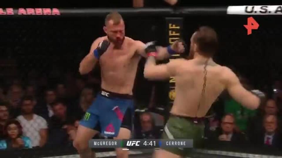 Хай-кик Макгрегора и болевой Олейника: лучшие моменты UFC 246