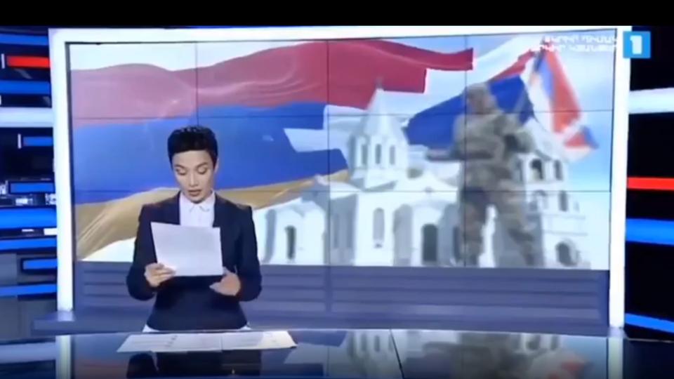 Ведущая армянского ТВ заплакала, зачитывая список погибших в Карабахе