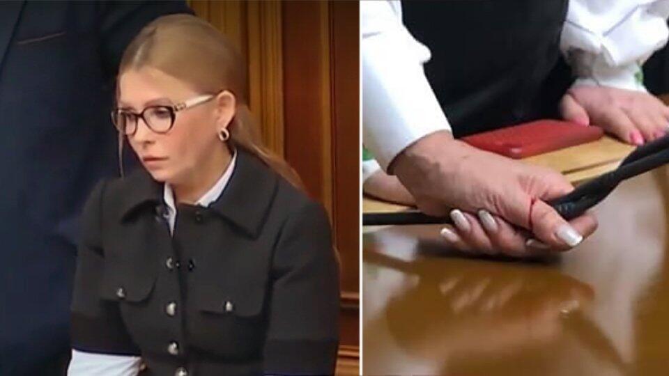 Тимошенко поранилась во время драки за место спикера в Верховной раде