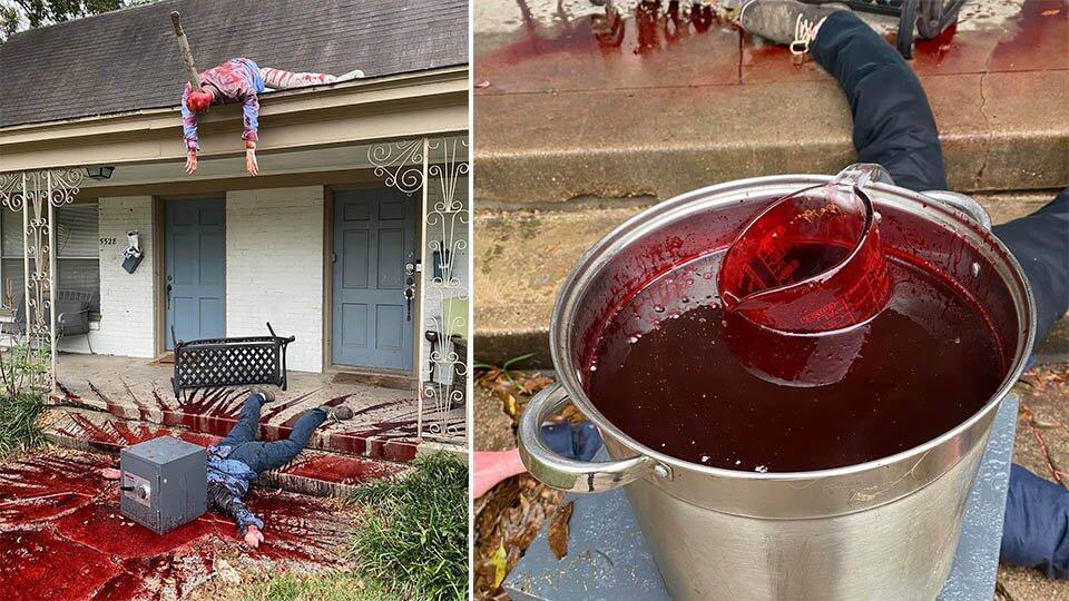 """""""Кровавый"""" дом поклонника Хэллоуина ужаснул соседей и привлек полицию"""