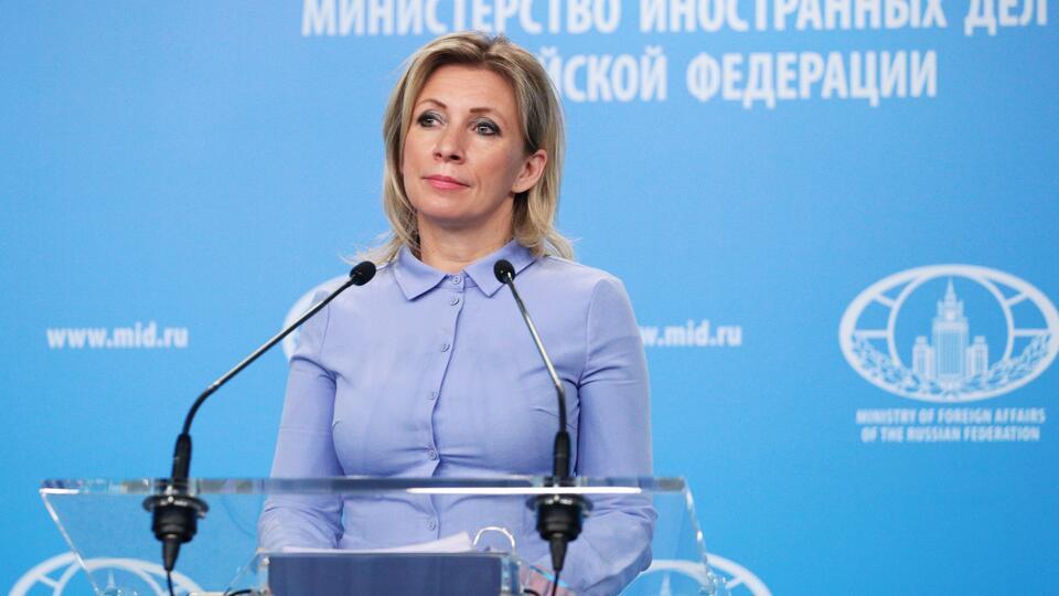 Захарова с иронией заявила, что гордится Зеленским после санкций Киева