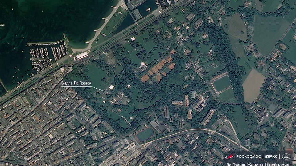 Место встречи Путина и Байдена в усадьбе Ла-Гранж сняли из космоса