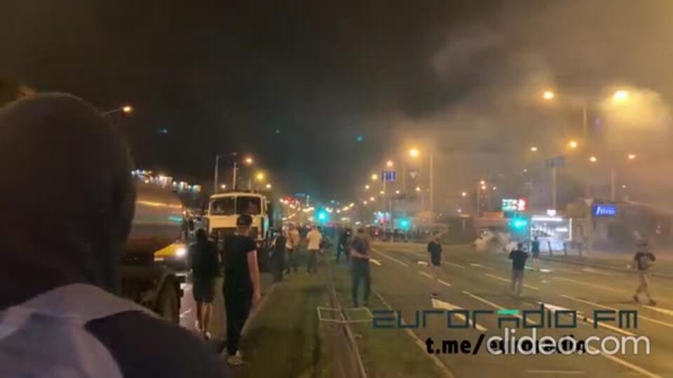 Гибель протестующего в Минске сняли с другой стороны дороги