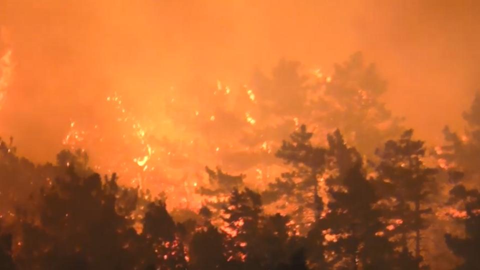 Жуткое зрелище: ночью в Новороссийске разгорелся страшный пожар