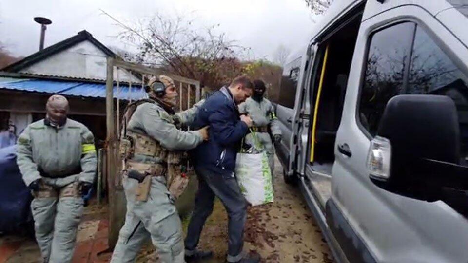 Видео задержания подозреваемых в убийствах, о которых заявлял Тесак