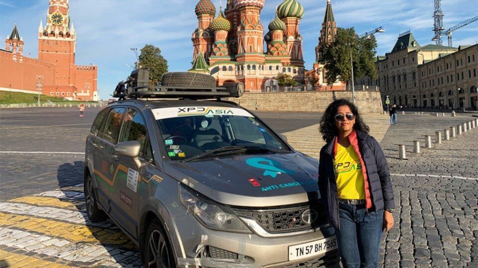 Индианка проехала на машине 21 700 км, чтобы попасть в Санкт-Петербург