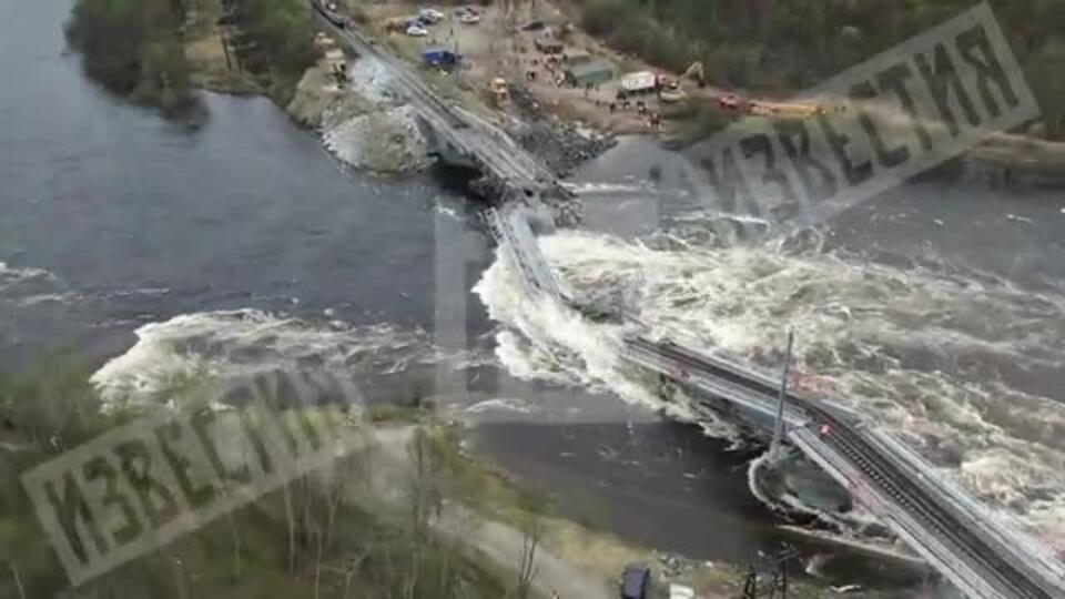 В РЖД назвали дату демонтажа рухнувшего под Мурманском моста