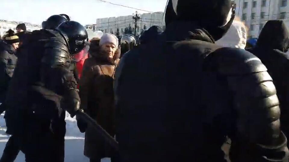Около 250 человек приняли участие в незаконном митинге в Хабаровске