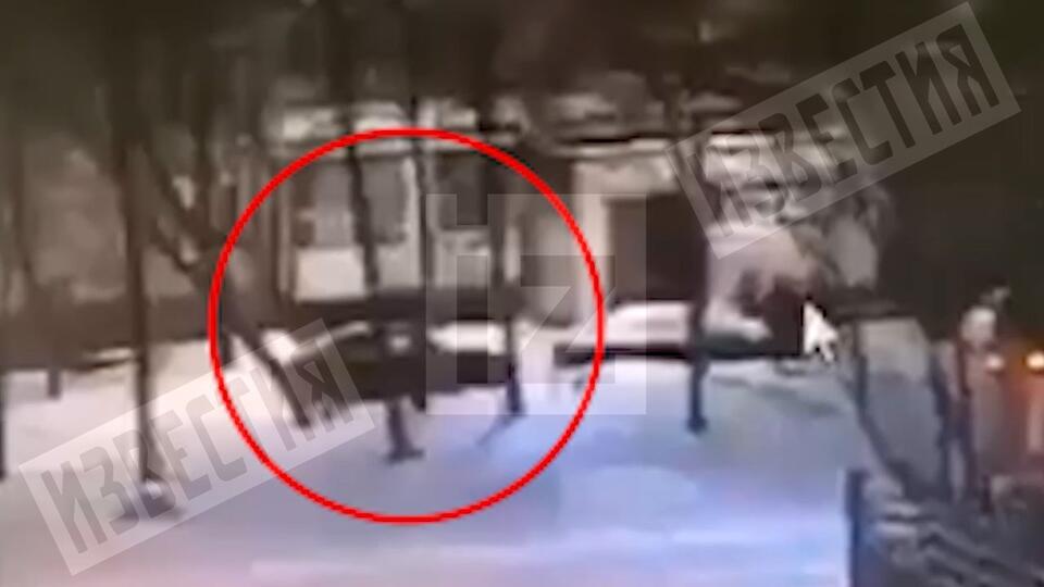 Момент спасения женщины при пожаре в Москве засняли камеры наблюдения
