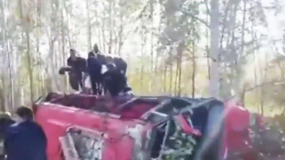 Число пострадавших в ДТП с автобусом под Хабаровском возросло до 14