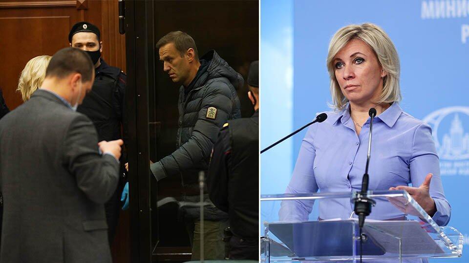 Захарова оценила присутствие иностранных дипломатов на суде Навального