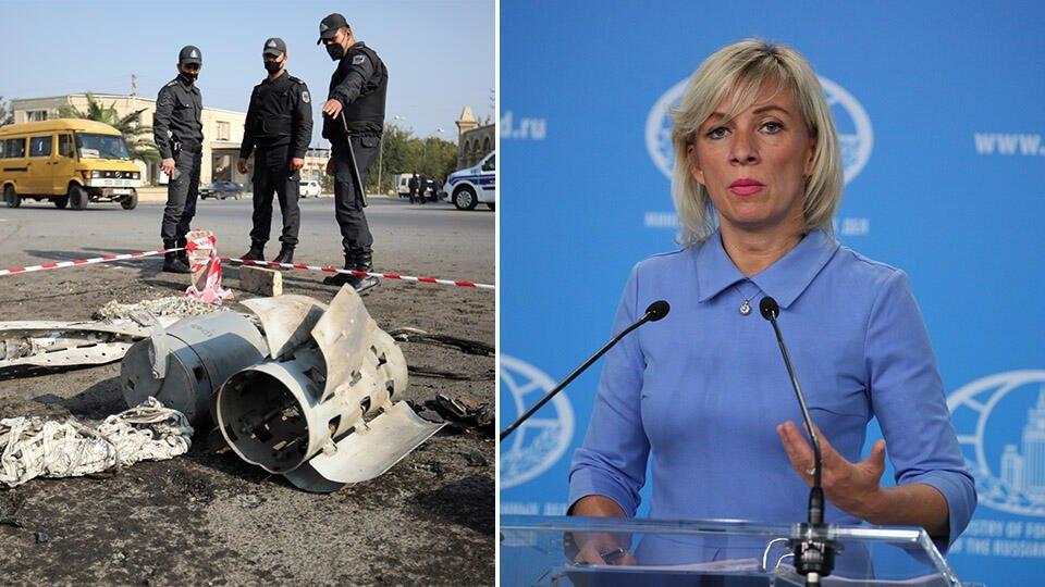 Захарова заявила, что РФ обеспокоена продолжением боев в Карабахе