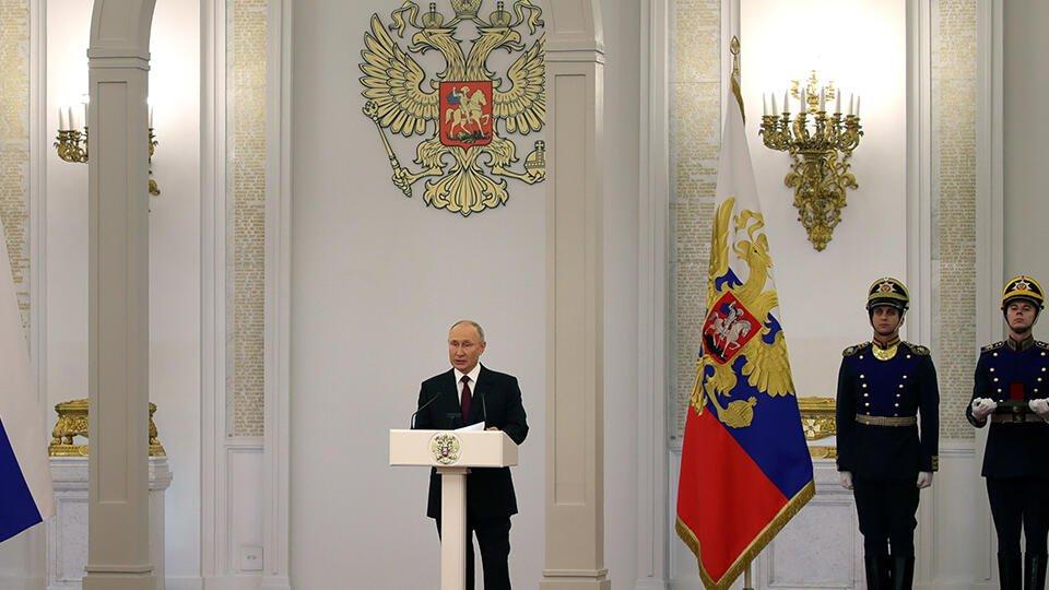 Путин поздравил россиян с Днем России