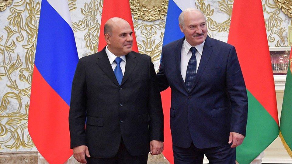 Мишустин встретился с Лукашенко в Минске
