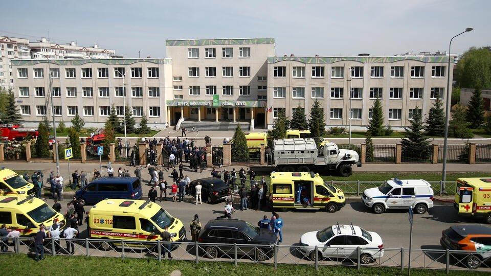 В результате стрельбы в школе в Казани пострадали 27 человек