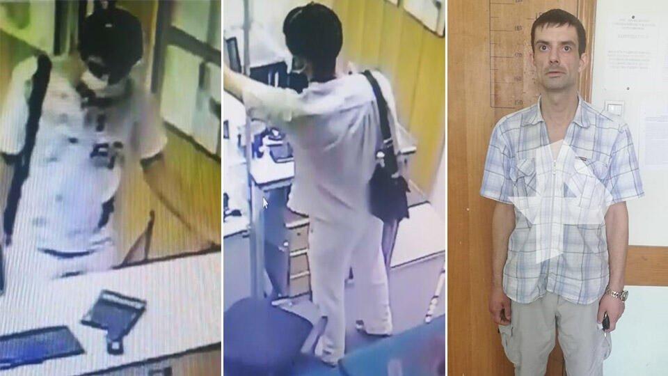 """Камера сняла """"скромное"""" ограбление ломбарда в Подмосковье"""