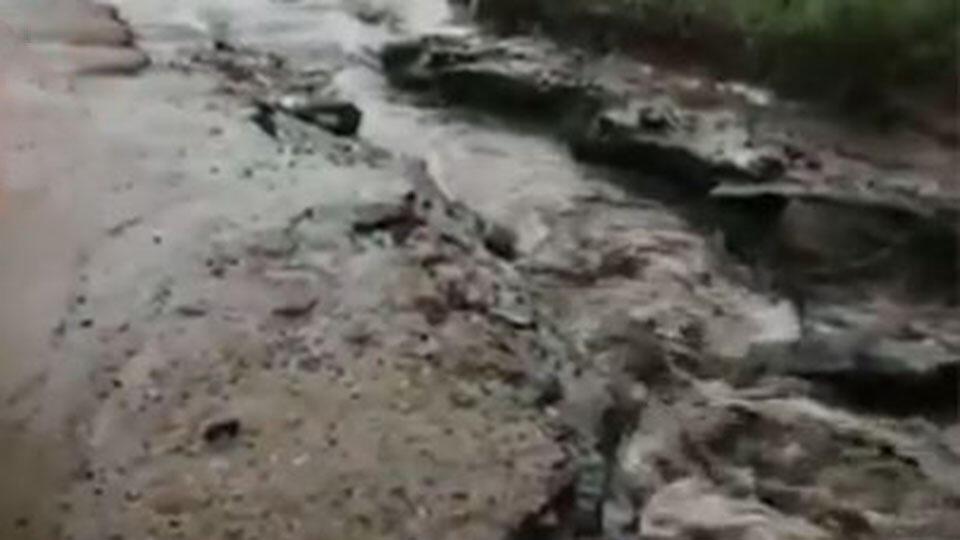 Потоп на дорогах: видео последствий сильного ливня в Бурятии