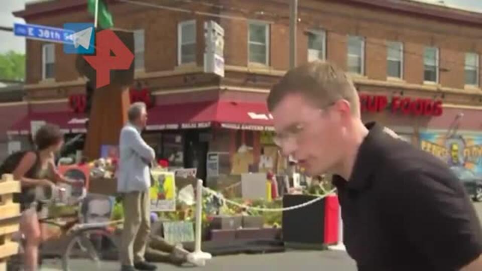 Журналист попал под обстрел во время съемки репортажа о Джордже Флойде
