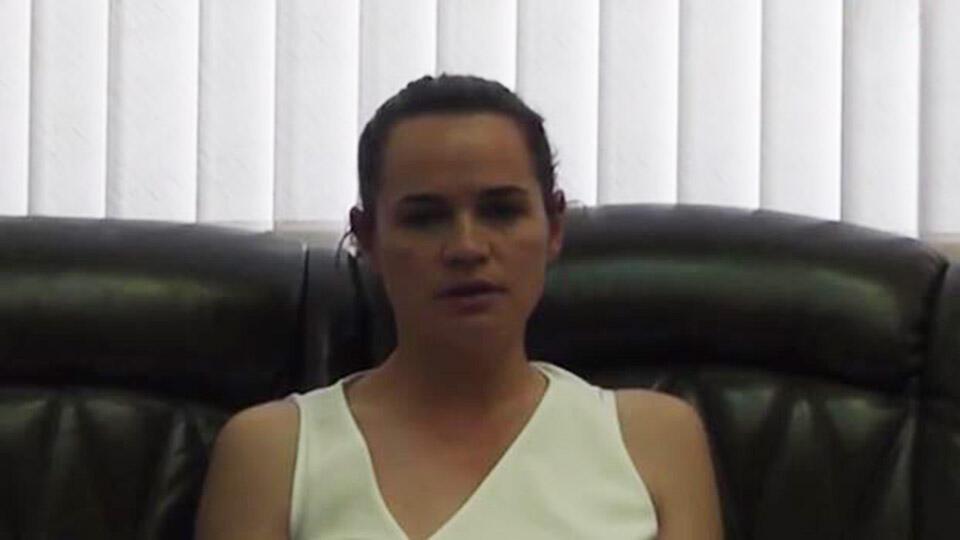 Видео: Тихановская призвала белорусов не противостоять силовикам