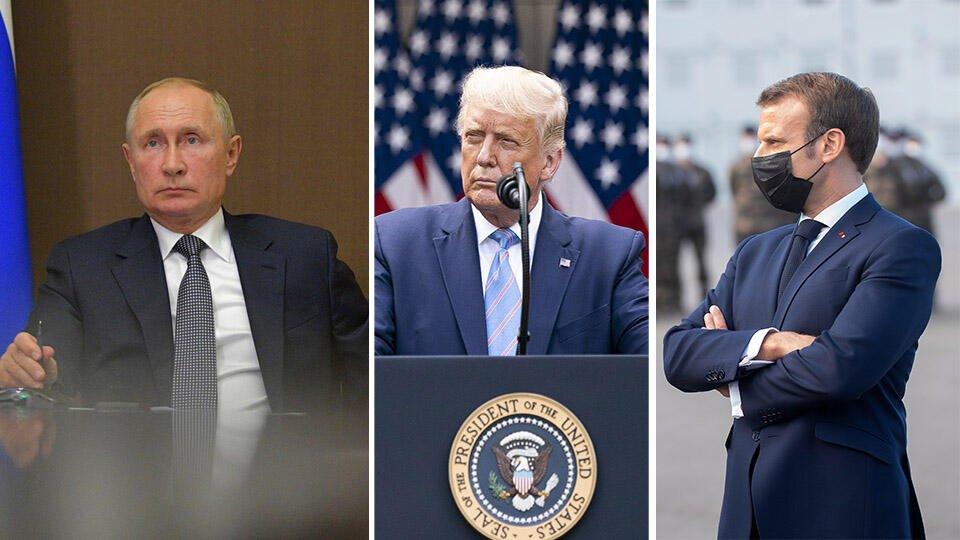Путин, Трамп и Макрон призвали немедленно прекратить бои в Карабахе