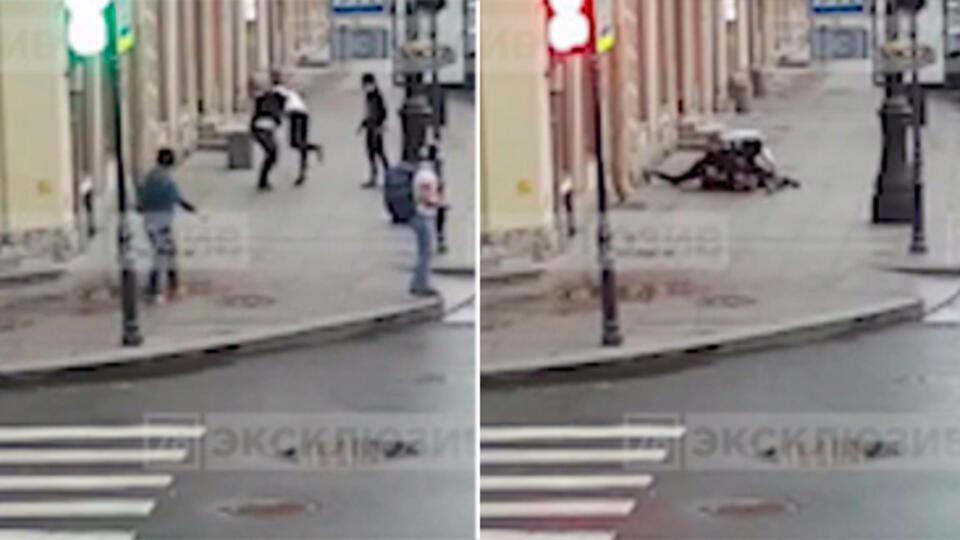 Видео: АУЕ-подростки избили петербуржца, сделавшего им замечание