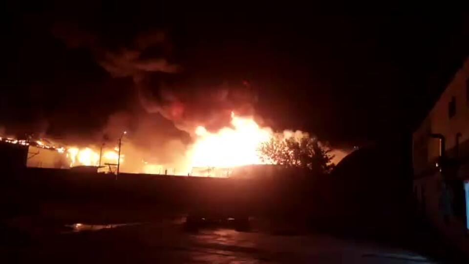Пожар на территории «Татнефтепродукта» в Казани локализован