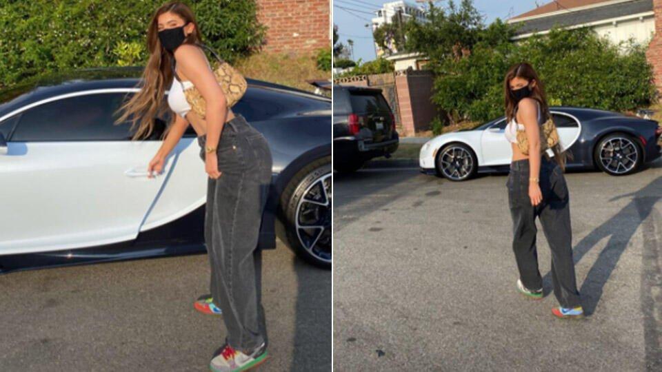 Кайли Дженнер раскритиковали за кадры на фоне роскошного суперкара