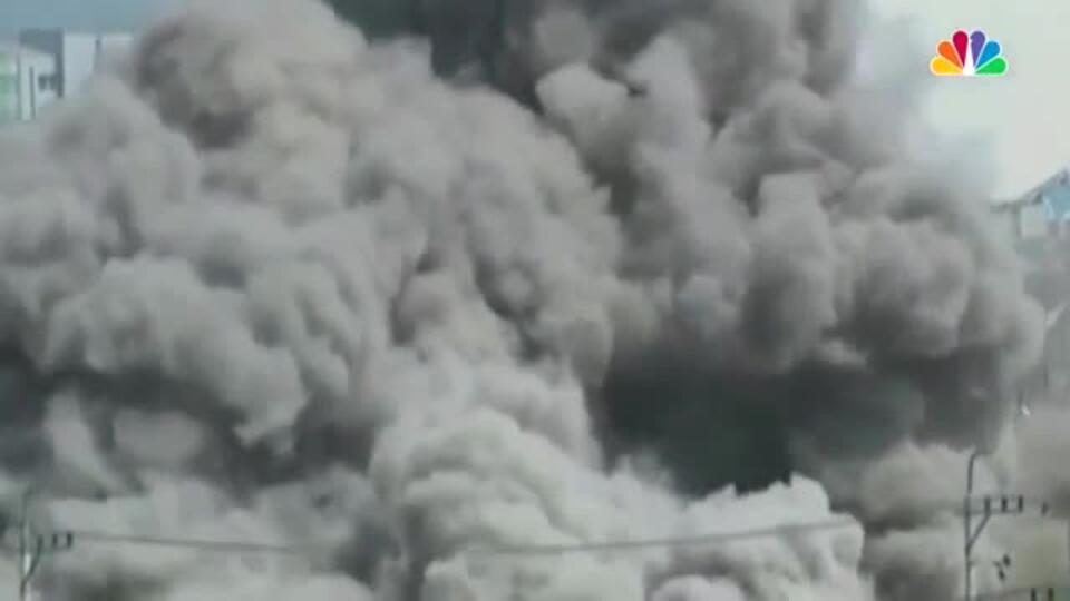 Щепки по сторонам: телевидение КНДР показало взрыв межкорейского офиса