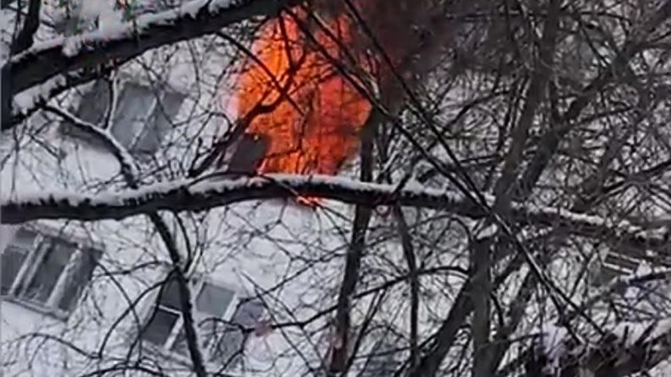 9 человек обратились к медикам после пожара в Подмосковье