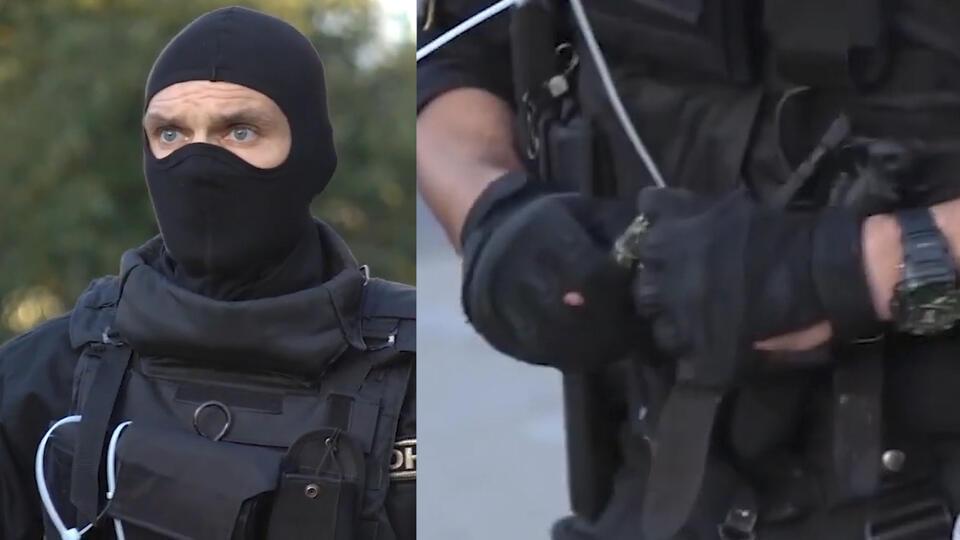 Омоновца, угрожавшего гранатой подростку в Минске, сняли на видео