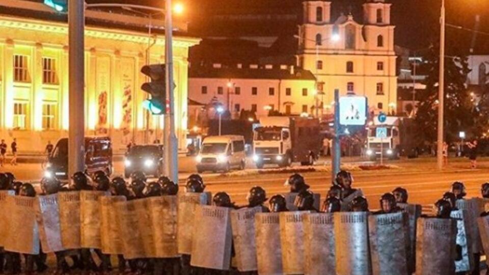 Большая часть протестующих ушла из центра Минска