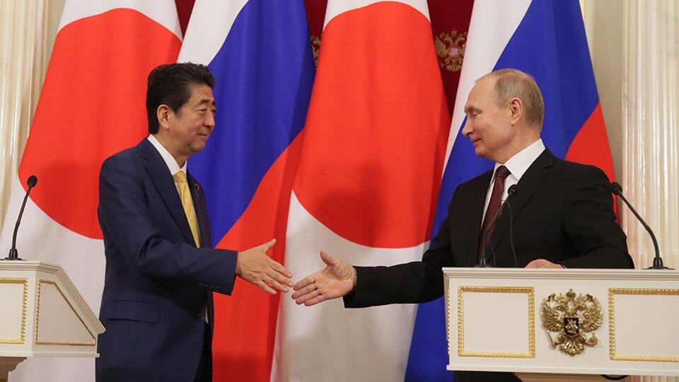 Абэ и Путин обсудили мирный договор между Японией и РФ
