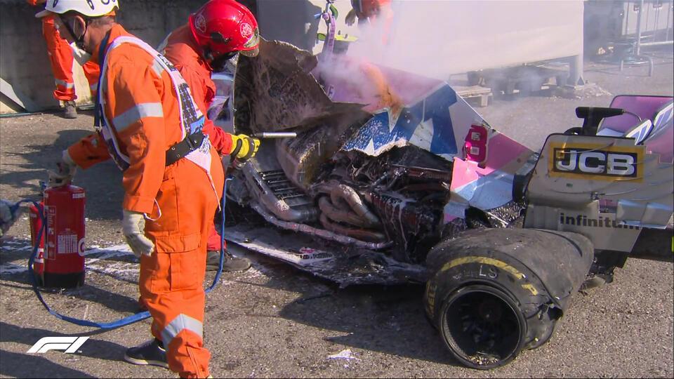 """Гонку """"Формулы 1"""" на Гран-при Тосканы вновь приостановили из-за аварии"""