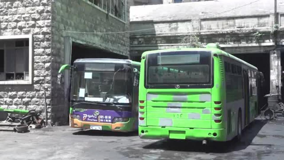 В Алеппо начал работать общественный транспорт