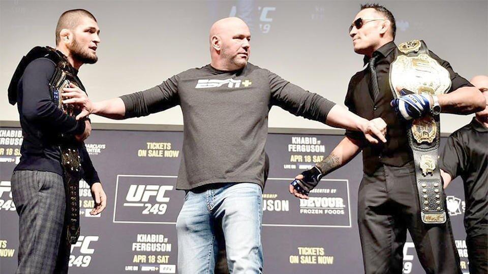 Хабиб Нурмагомедов не примет участия в турнире UFC 18 апреля