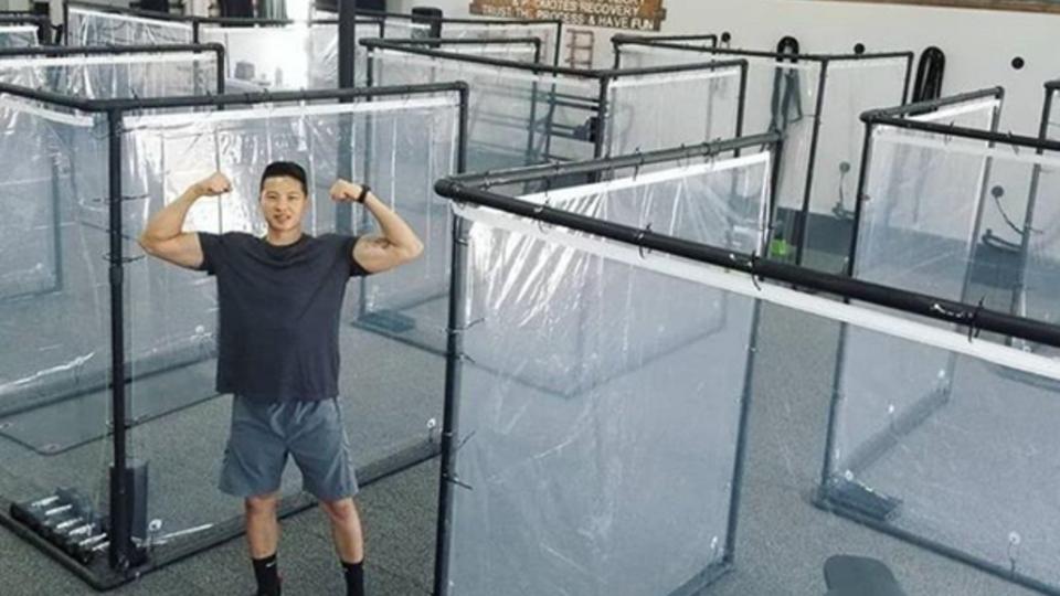 В спортзале США создали контейнеры для занятий в период COVID-19