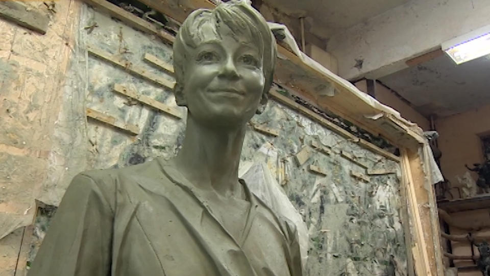 В Москве представили памятник Доктору Лизе