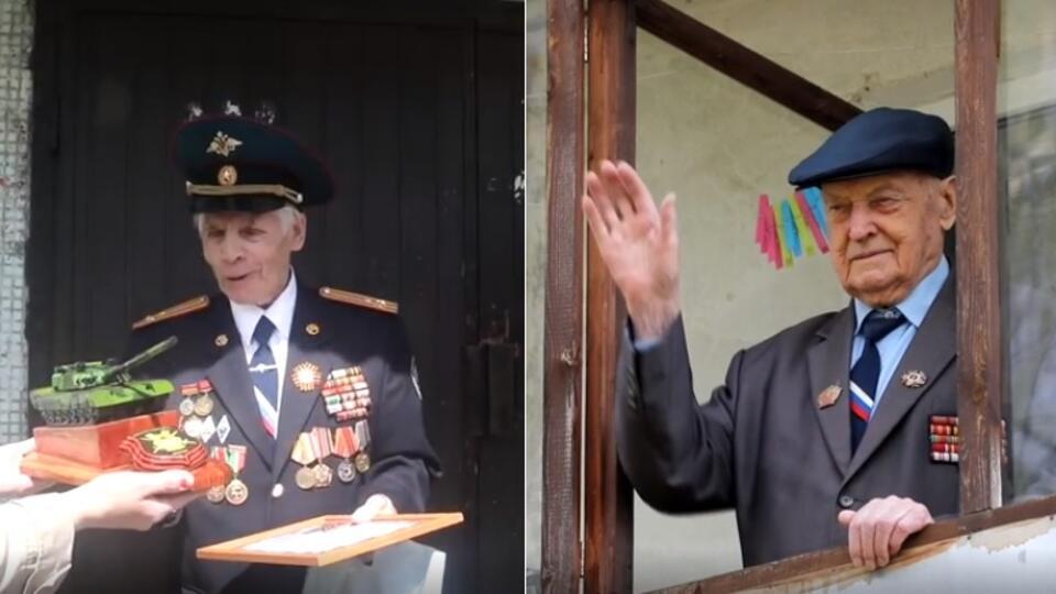 В Подмосковье военные устроили для ветеранов на улице концерт