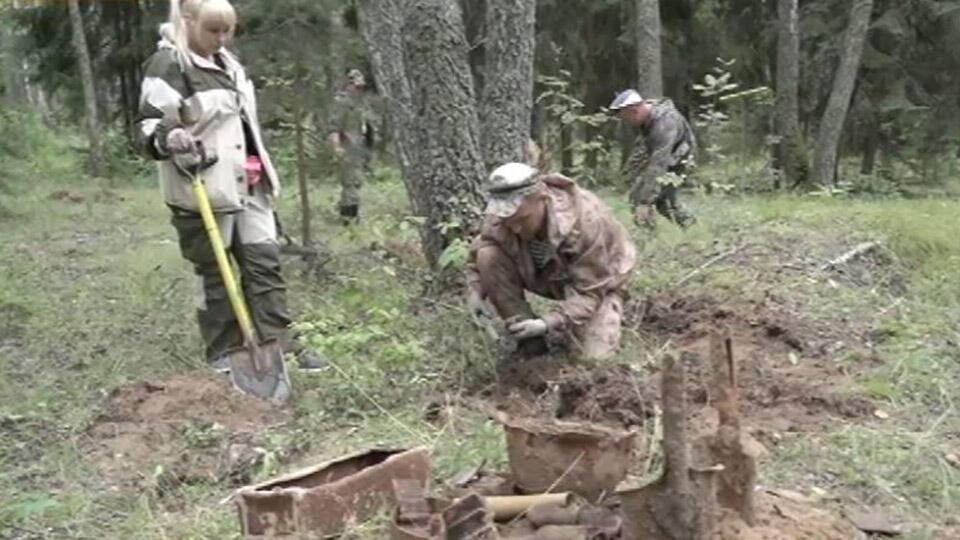 Останки 90 советских воинов обнаружили под Тулой
