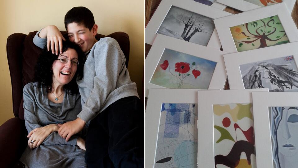 История о силе: парализованная художница продолжила рисовать глазами