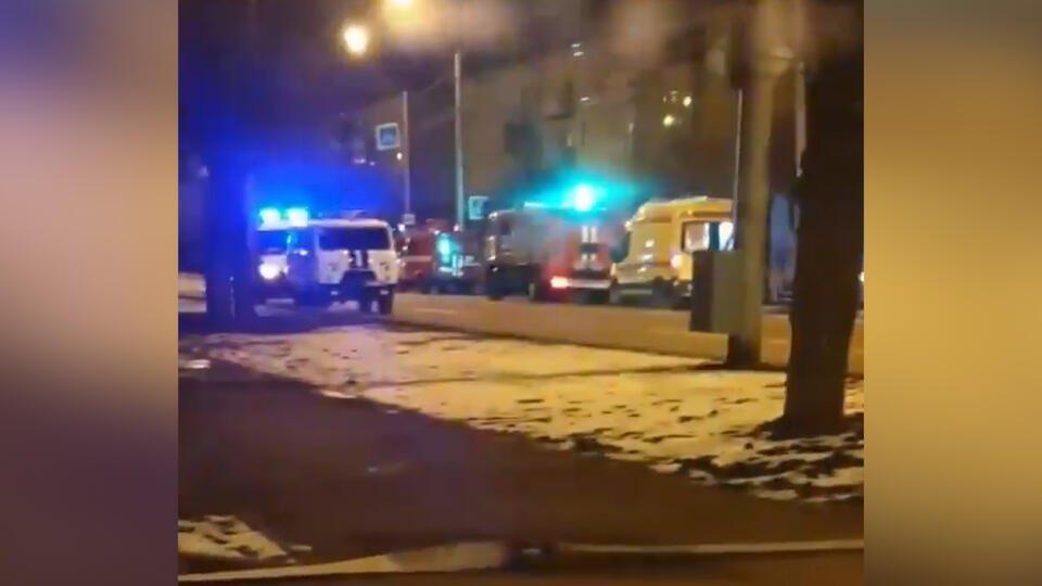 В Красноярске в гостинице произошел пожар