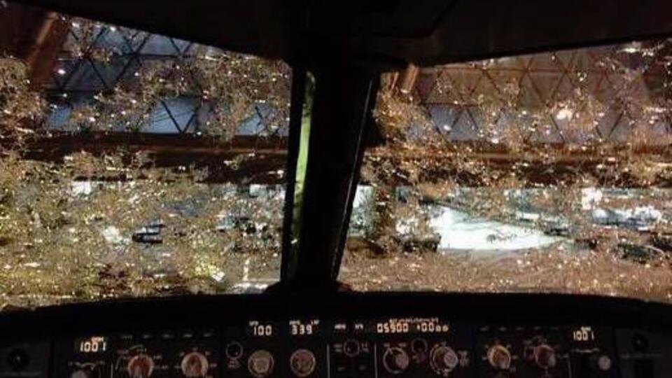 новое фото самолета после града для того, чтобы