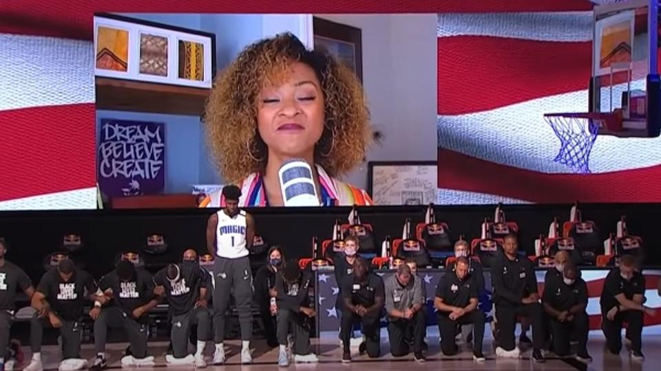 Темнокожий баскетболист не преклонил колено ради Black Lives Matter